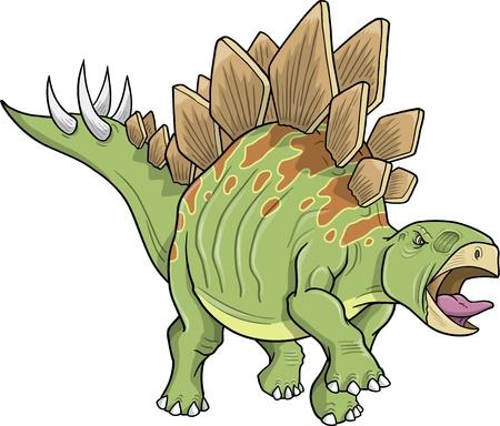 stegosaurus: Stegosaurus Dinosaur  Illustration