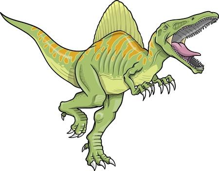 spinosaurus: Spinosaurus Dinosaur Vector Illustration  Illustration