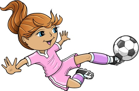 playing soccer: Sports Summer Soccer Girl
