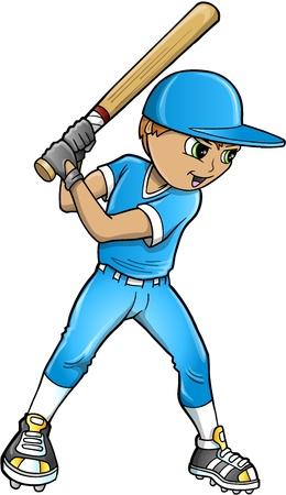 Baseball Player Illustration Stock Vector - 14292843