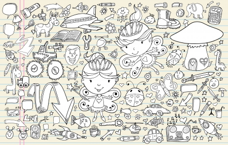Doodle Sketch Vector Elements Set Stock Vector - 14377011