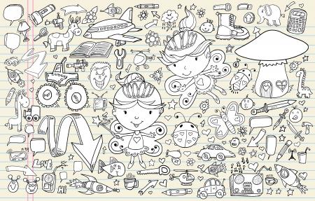 Doodle Sketch Vector Elements Set Stock Vector - 14377011