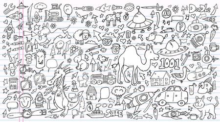 Notebook Doodle Clip art Design set  イラスト・ベクター素材