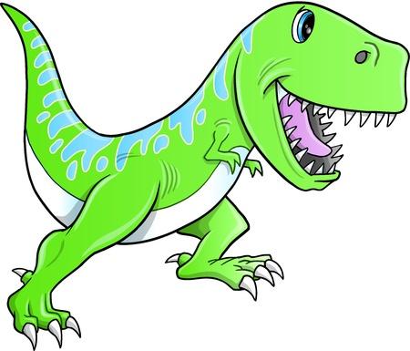 Cute Tyrannosaurus Dinosaur  Illustration