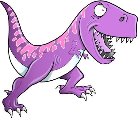 Crazy Tyrannosaurus Dinosaur Illustration  Illusztráció