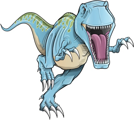 dinosauro: Tyrannosaurus Rex Dinosaur Illustrazione Vettoriali