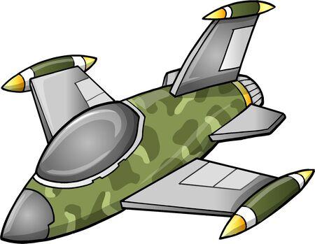 avion de chasse: Avion mignon Jet Fighter Illustration
