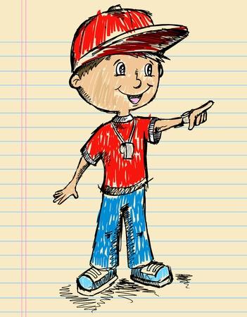 Notebook Coach Color Sketch