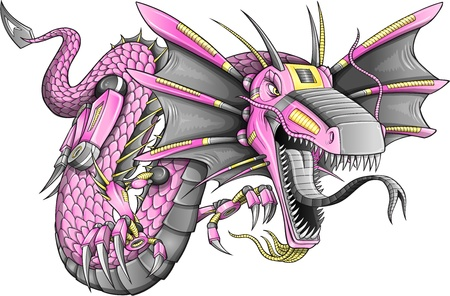 japanese ethnicity: Robot Cyborg Dragon