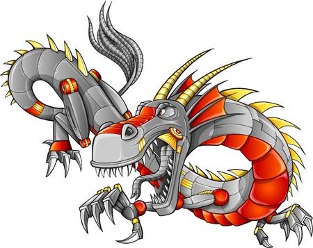 Robot Cyborg Dragon Фото со стока - 15560470