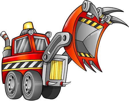 apocalyptic: Apocalyptic Digger Front Loader Vehicle