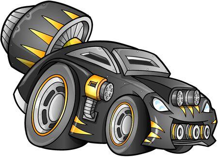 終末論的な車車  イラスト・ベクター素材