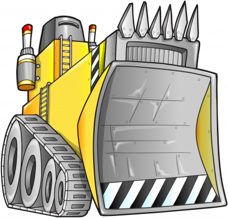 heavy construction: Apocalyptic Bulldozer Illustration
