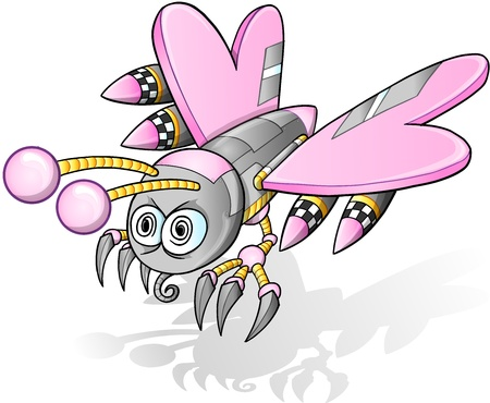 Battle Robot Cyborg Butterfly Illustration Stock Vector - 15960828