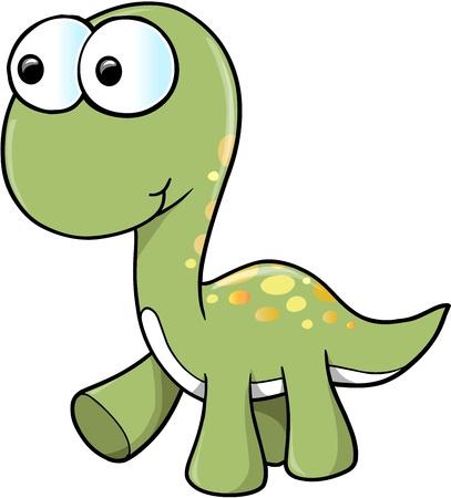 cute: Cute Dinosaur  Illustration
