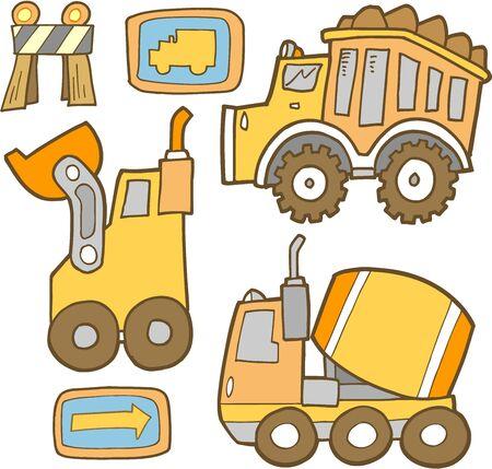 construction: Cute Construction Vehicle Set