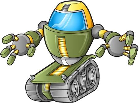 tanque de guerra: Robot Evil Vector Tank Vectores