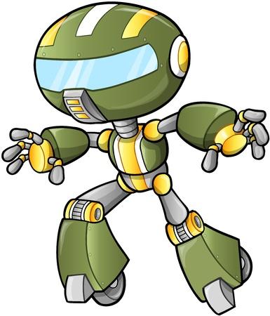 Robot Cyborg Warrior  Illustration