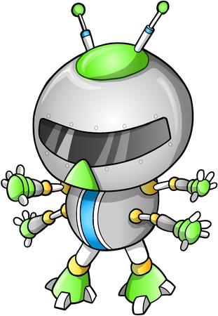 warriors: Cute Robot illustration Illustration