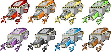 宇宙船宇宙船デザイン要素  イラスト・ベクター素材
