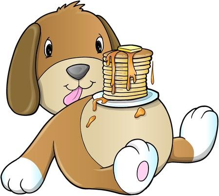 cute dog: Cute Puppy Dog Pancake Breakfast