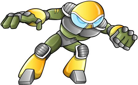 robot with shield: Military Soldier Warrior  Illustration