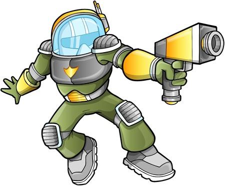 blaster: Military Soldier Warrior  Illustration