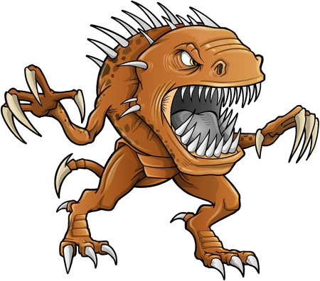 creature of fantasy: Demon Monster Beast Vector