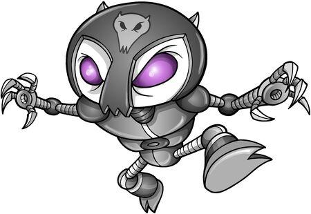 cyborg: Robot Cyborg Ninja Warrior Vector