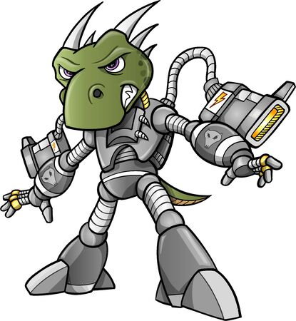 Cyborg Alien Soldier Warrior Vector  Vector