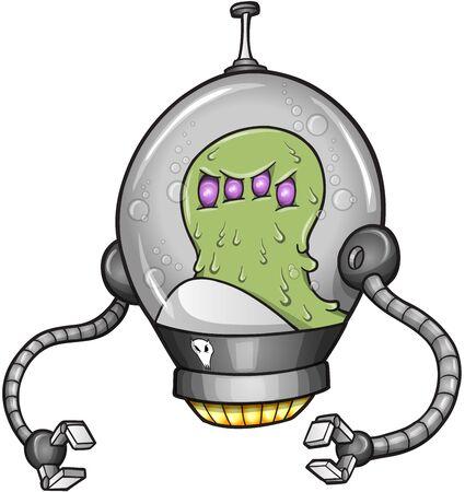 Alien Warrior Soldier Robot Cyborg Vector 일러스트