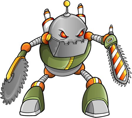 cyborg: Robot Cyborg Soldier Massive Warrior Vectores