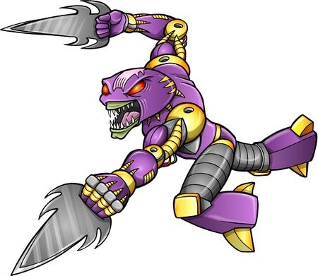 Warrior Ninja Cyborg Soldier  向量圖像