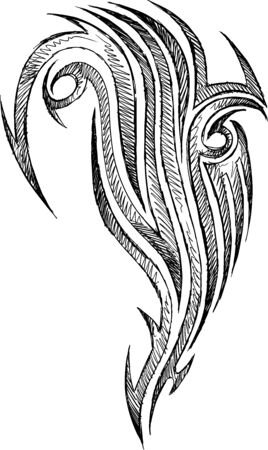 traditional tattoo: Sketch Doodle Tattoo Vector