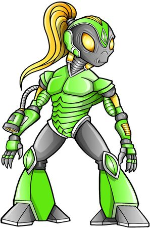 Alien Warrior Robot Cyborg Soldier Vector