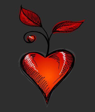 Valentines Heart Love Sketch Doodle