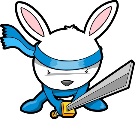 Cute Bunny Rabbit Ninja