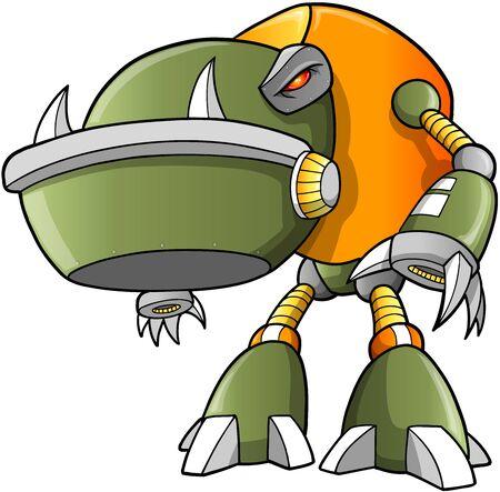 Massive Warrior Robot Cyborg Soldier