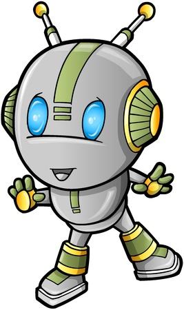 cute robot: Cute Robot vector illustration Illustration