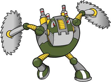 massive: Massive Warrior Robot Cyborg Soldier Vector