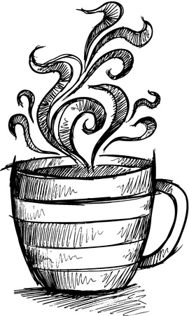 steamy: Sketch Doodle Coffee Cup Illustration Art