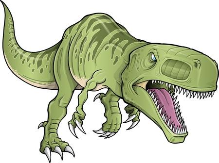 Tyrannosaurus Dinosaur Vector Illustration Illusztráció