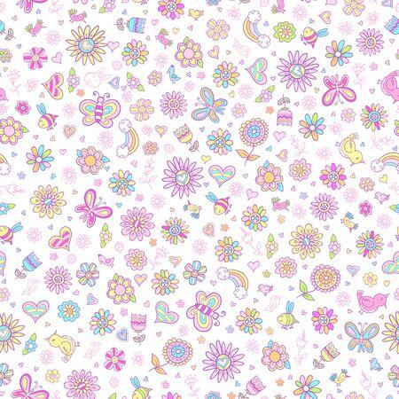 springtime: Springtime Seamless Pattern