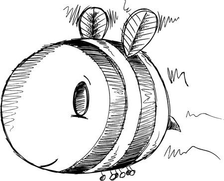 Bee Sketch Drawing