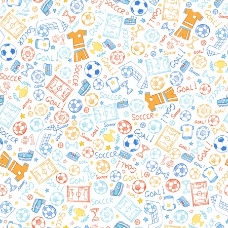 Soccer Sports Seamless Pattern Vector
