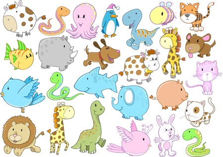 Animal Wildlife Vector Set Vector