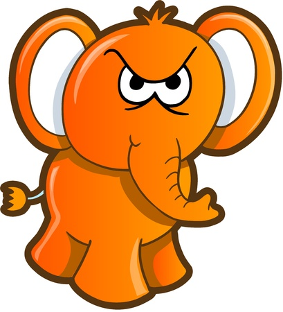 angry elephant: Angry Elephant Illustration Art Illustration