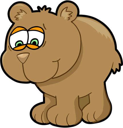 Worried Bear Illustration Art