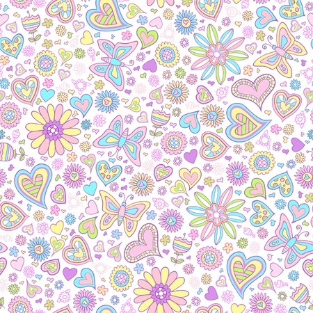 springtime: Springtime Flower Seamless Pattern Vector Art