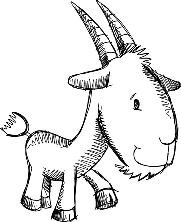 Farm Goat Sketch Doodle